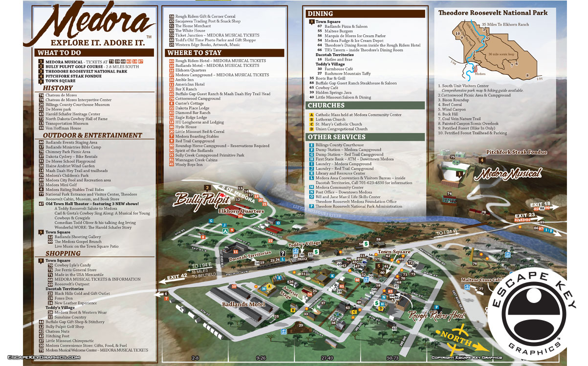 Tourist Town Illustrated Map