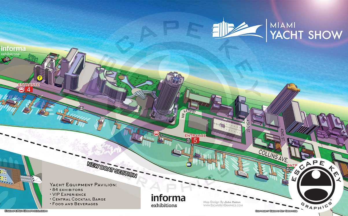 Miami Yacht Show Maps