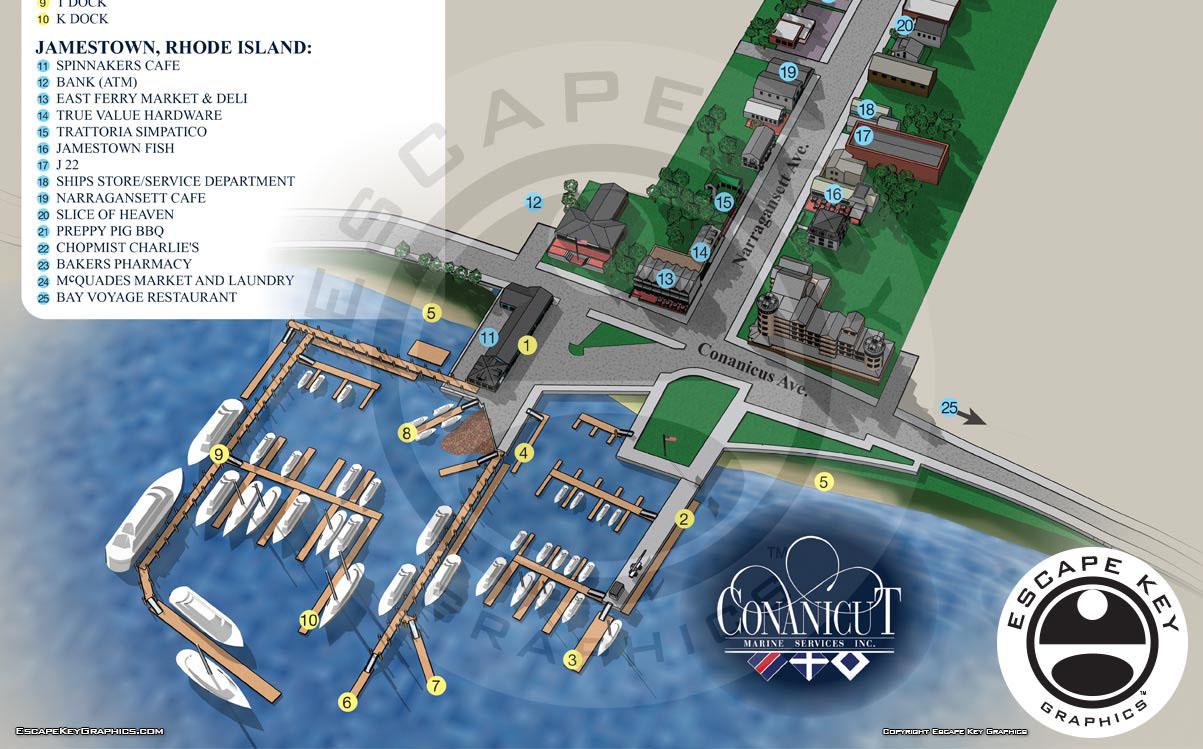 Marina and Adjacent Village Map