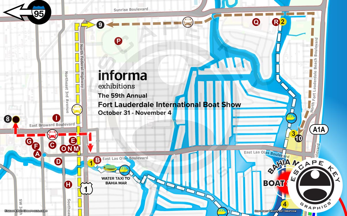 2018 FLIBS Transit and Parking Map