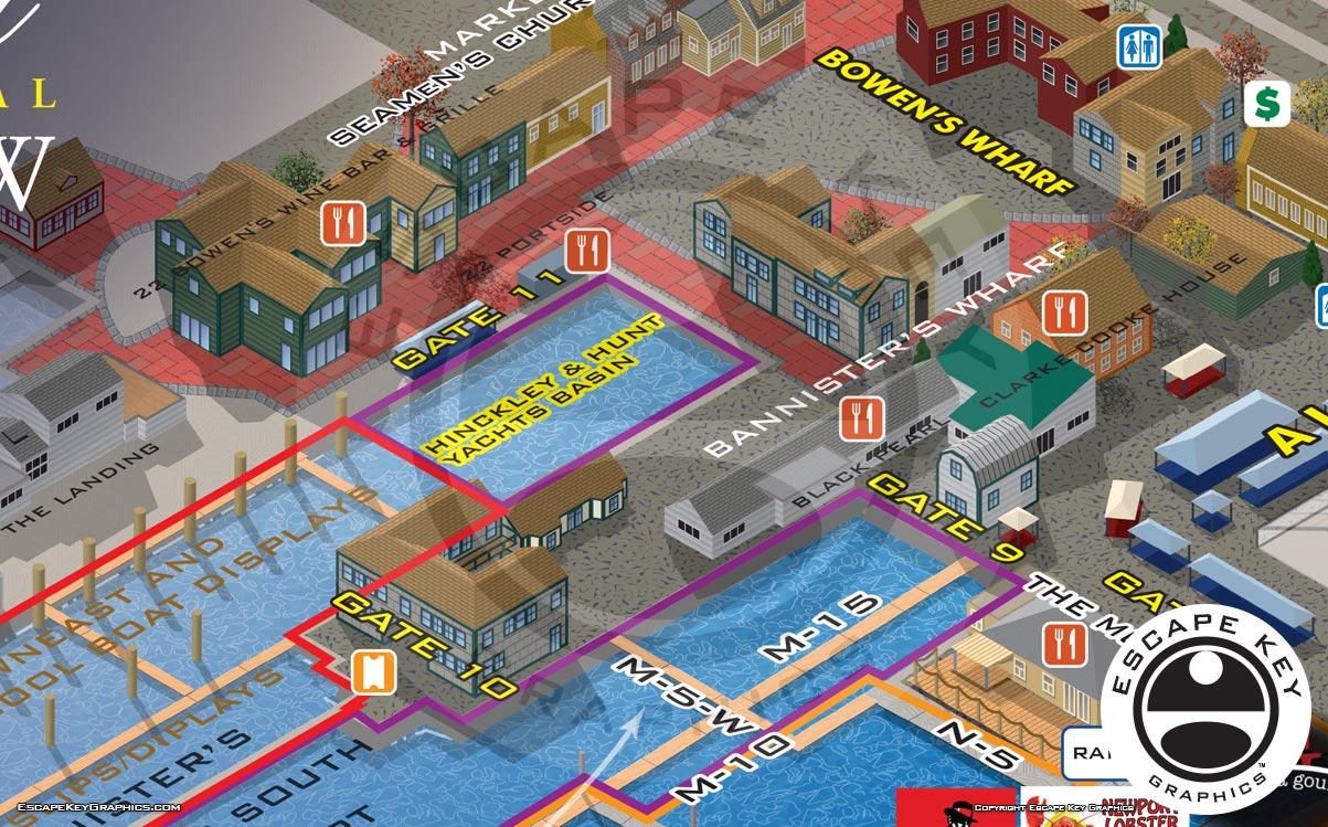 2018 Illustrated Newport International Boat Show Map