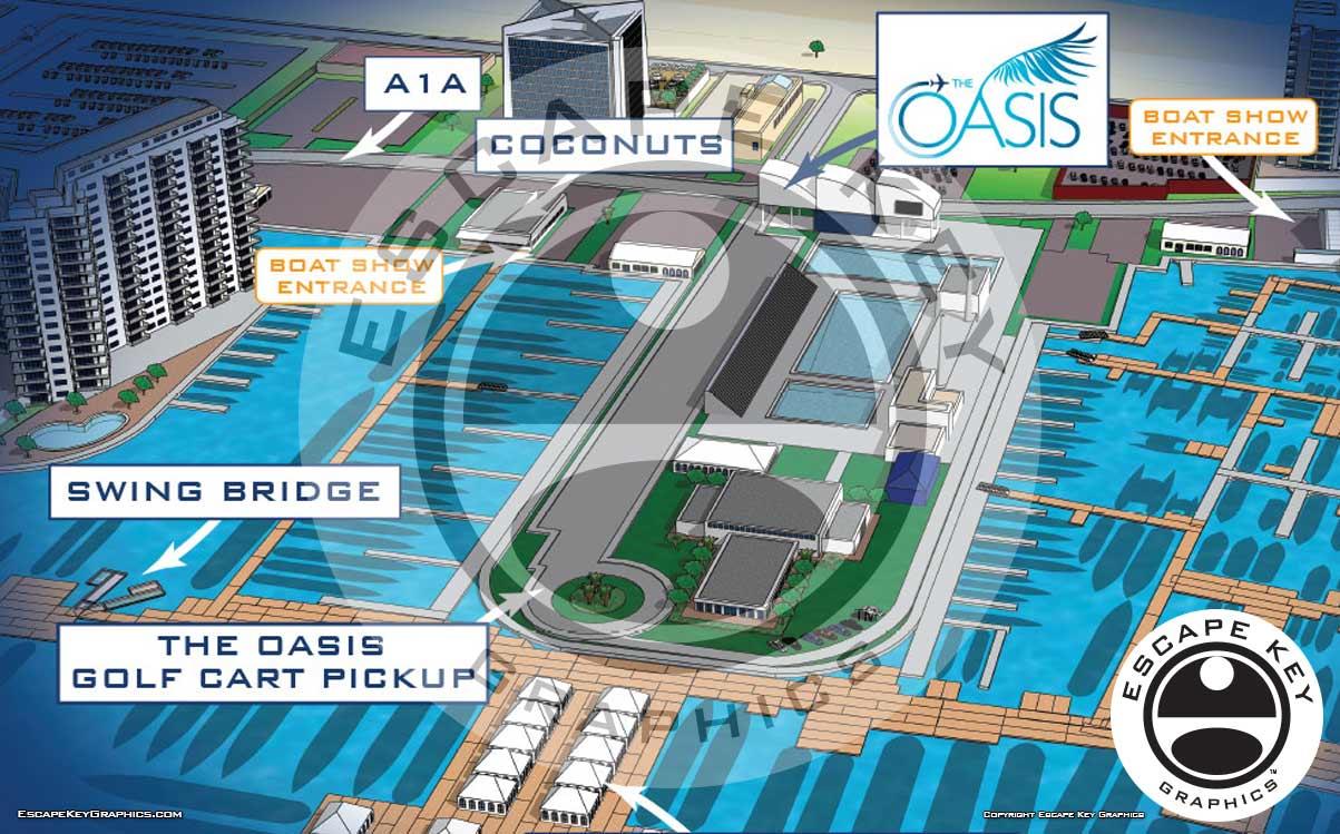 FLIBS Boat Show Location Map