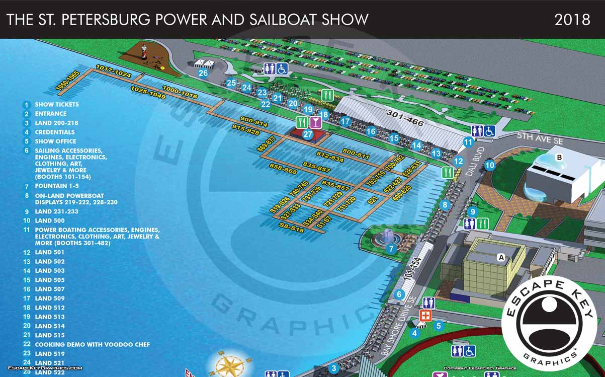 St Petersburg Boat Show 2018 Map