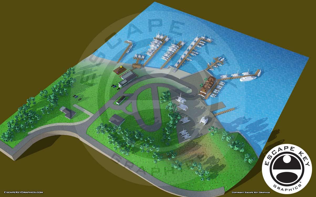 Illustrated Maryland Marina Map