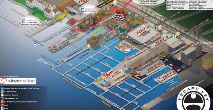 Newport International Boat Show 2019 Illustrated Map