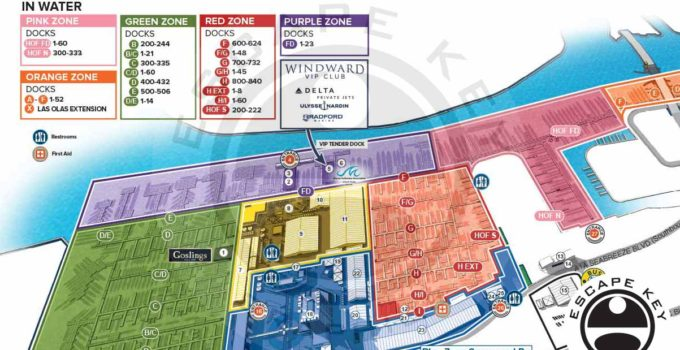 Fort Lauderdale International Boat Show Illustrated Map