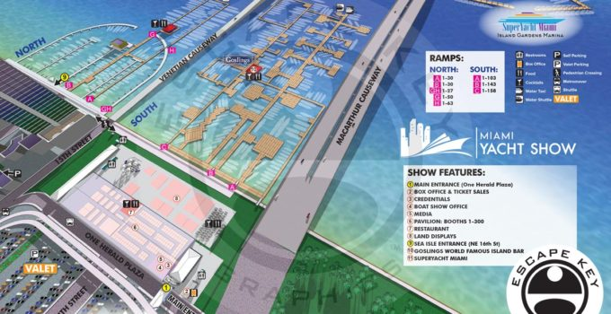 The 2020 Miami Yacht Show Map