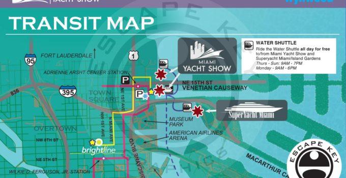 Miami Yacht Show Transportation Map