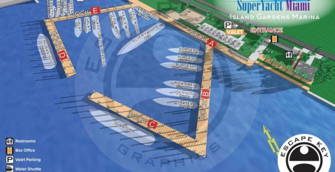Super Yacht Miami Map