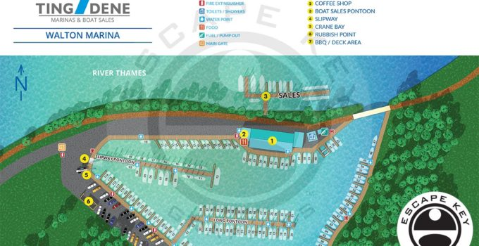 Overhead Map of a Marina
