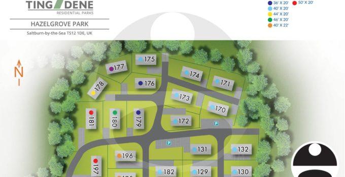 Saltburn-by-the-Sea, U.K. Residential Park Map