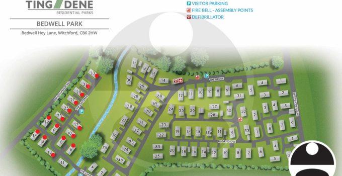 Bedwell Park, U.K. Residential Park Map