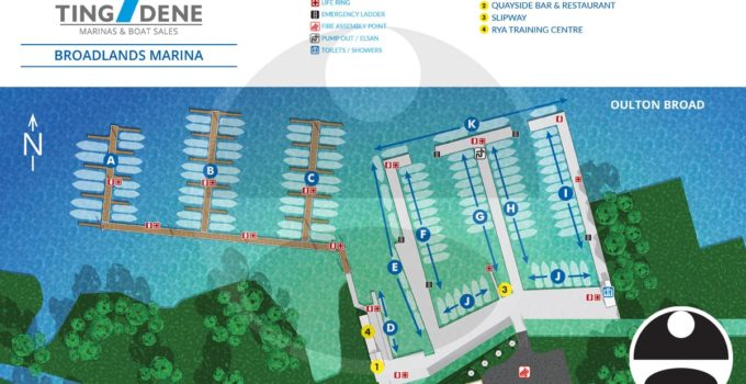 Map of Broadlands Marina