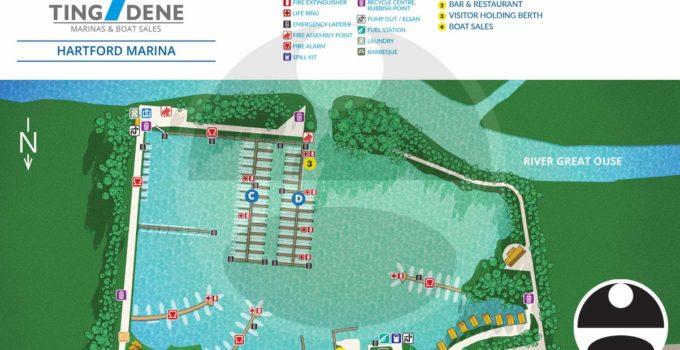 Map of Hartford Marina