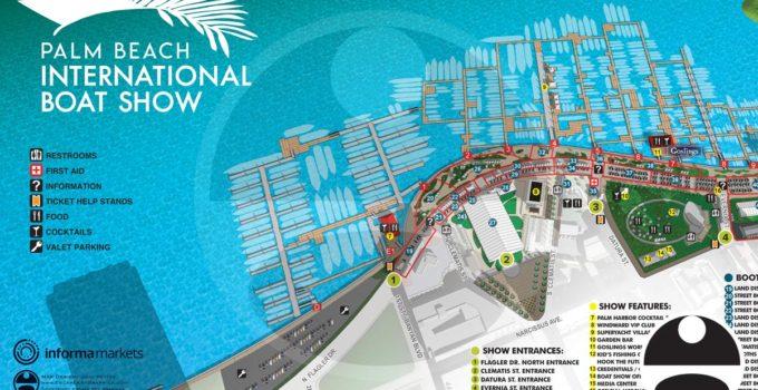 Palm Beach International Boat Show 2021 Map