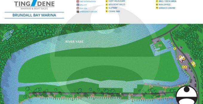 Map of Brundall Bay Marina