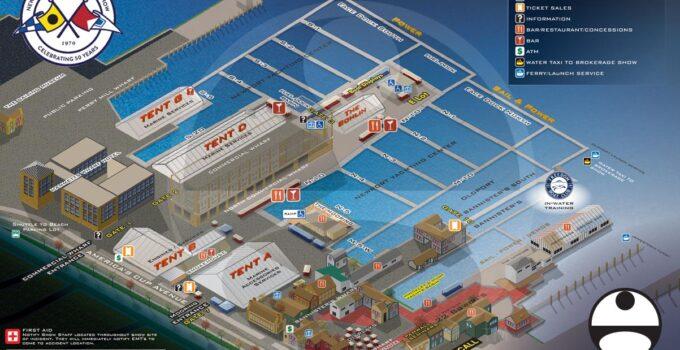 Newport International Boat Show Map 2021