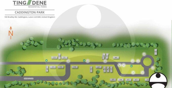 Caddington, U.K. Residential Park Map