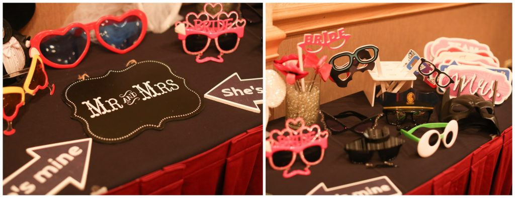 Photo Booth Props Wedding Reception Party Shots Orlando   Red & Black Wedding Classic Romantic Dark Mission Inn Resort Anna Christine Events Wings of Glory Photography