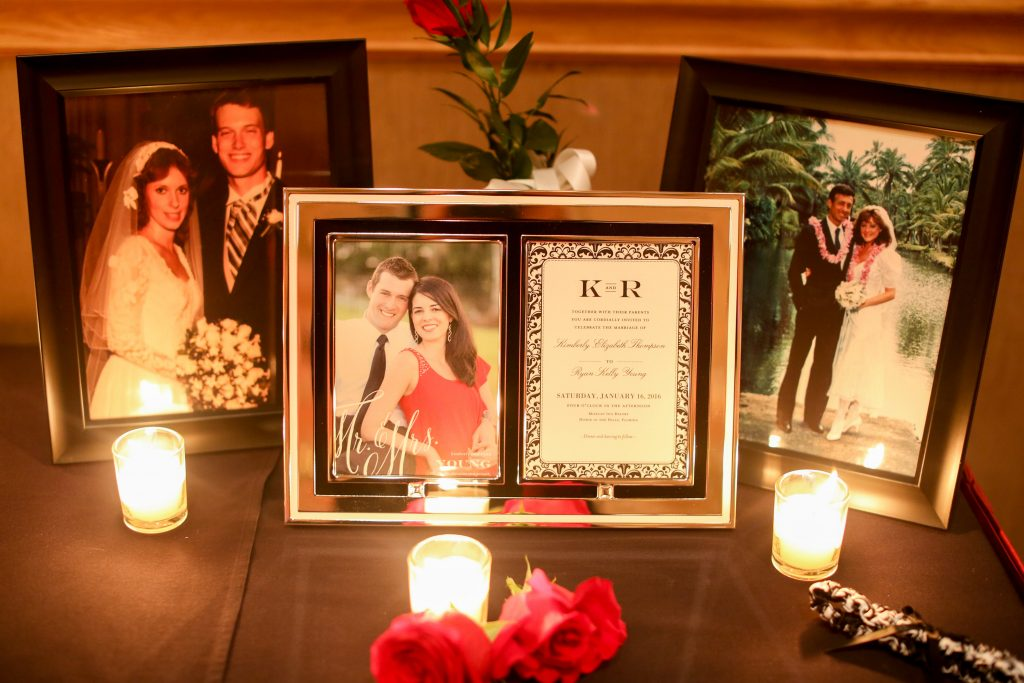 Candles Invitation Wedding Display Parents   Red & Black Wedding Classic Romantic Dark Mission Inn Resort Anna Christine Events Wings of Glory Photography