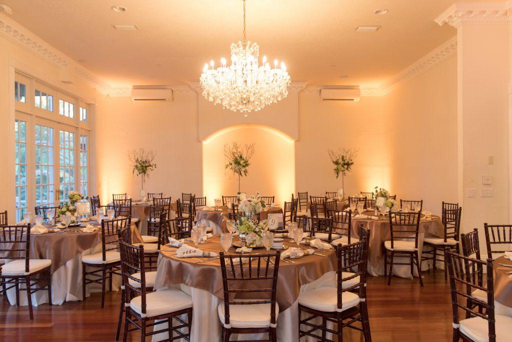 Chandelier Ballroom Dining Room Reception | Travel Inspired Themed Glamorous Gold & White Wedding Luxmore Grande Estate Anna Christine Events Justin DeMutiis Photography