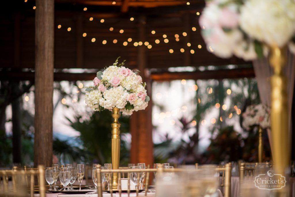 Flowers by Lesley Floral Centerpieces Tall   Classic Pink & White Beach Wedding Paradise Cove Lakeside Orlando Anna Christine Events Cricket's Photography