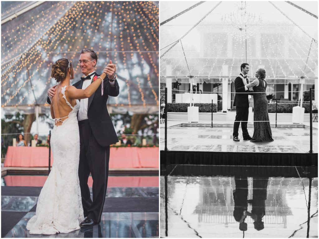 Parent Dances Mother-Son Father-Daughter | Bright Backyard Wedding Colorful Knowles Chapel Lora Rodgers Photography Anna Christine Events