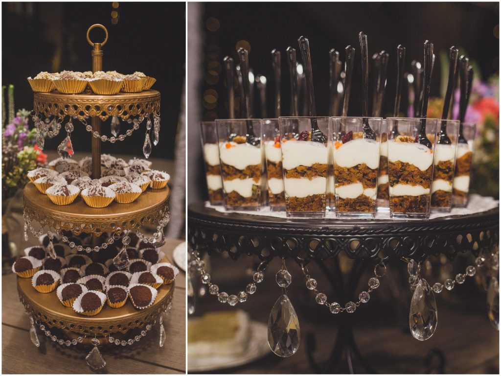 Desserts Arthur's Catering | Bright Backyard Wedding Colorful Knowles Chapel Lora Rodgers Photography Anna Christine Events
