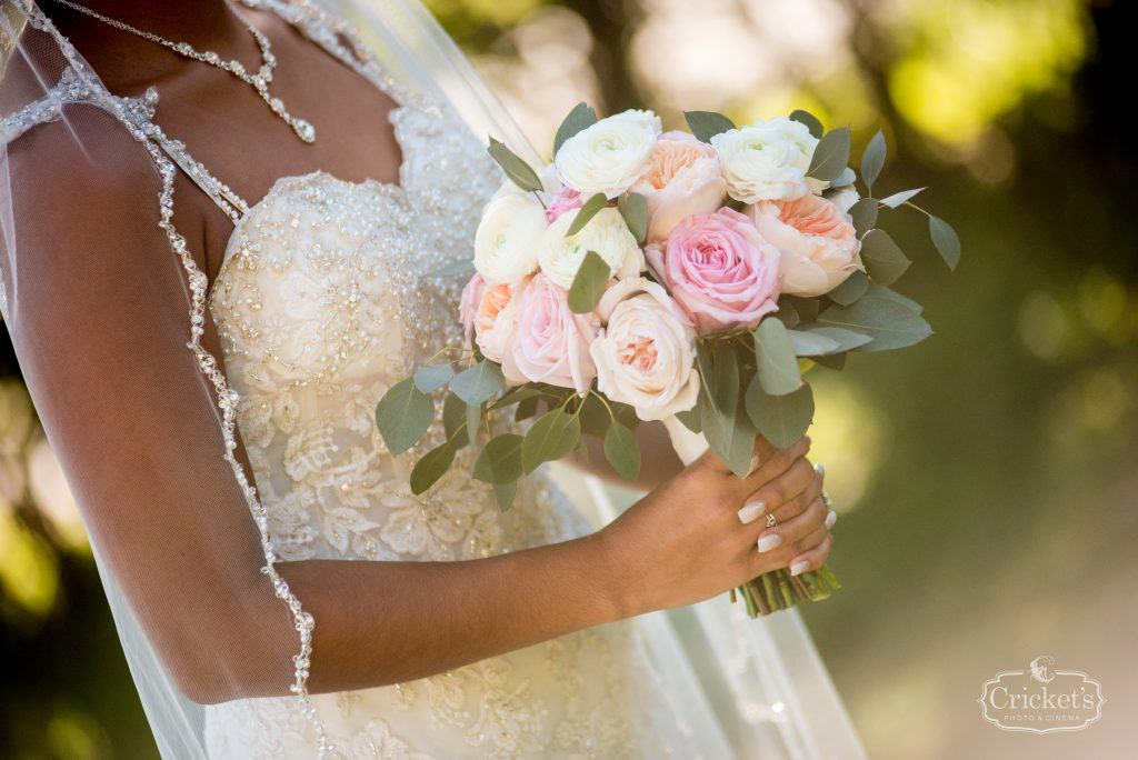 Bride's Bouquet Flowers by Lesley   Classic Pink & White Beach Wedding Paradise Cove Lakeside Orlando Anna Christine Events Cricket's Photography