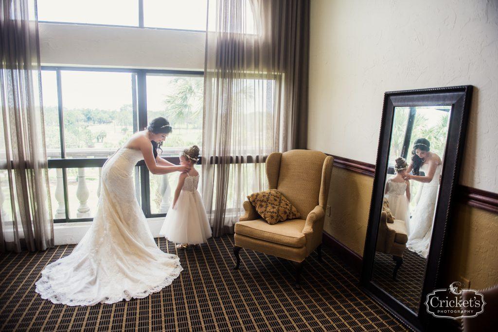 Bride Getting Ready Flower Girl | Travel Themed Inspired Wedding Mission Inn Resort Orlando Florida Anna Christine Events Cricket's Photo & Cinema