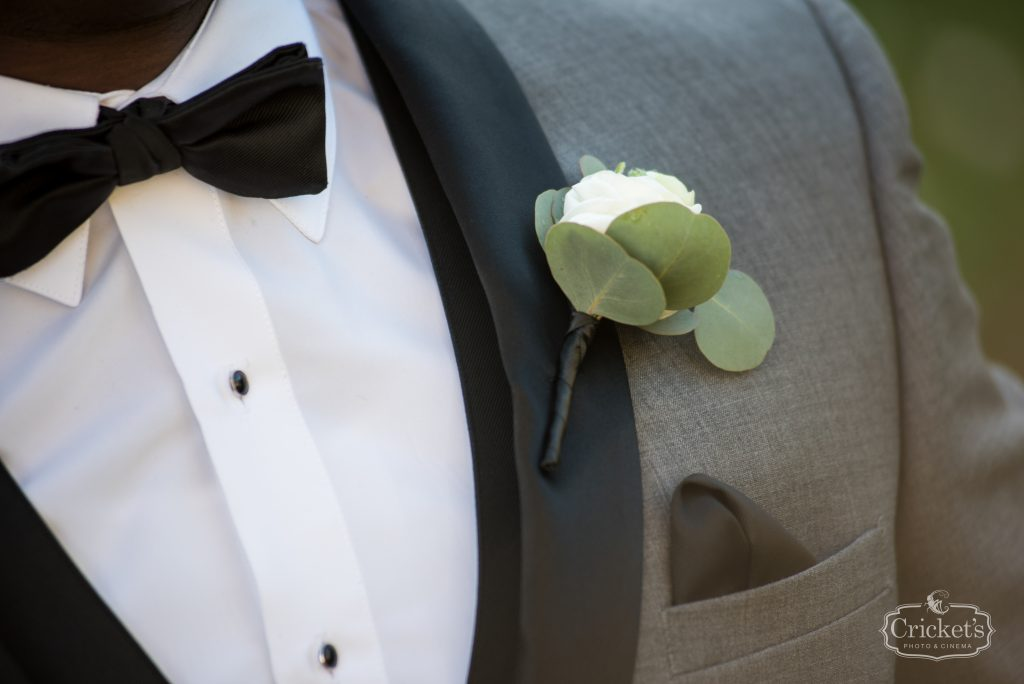 Groom Boutonniere Flowers by Lesley   Classic Pink & White Beach Wedding Paradise Cove Lakeside Orlando Anna Christine Events Cricket's Photography