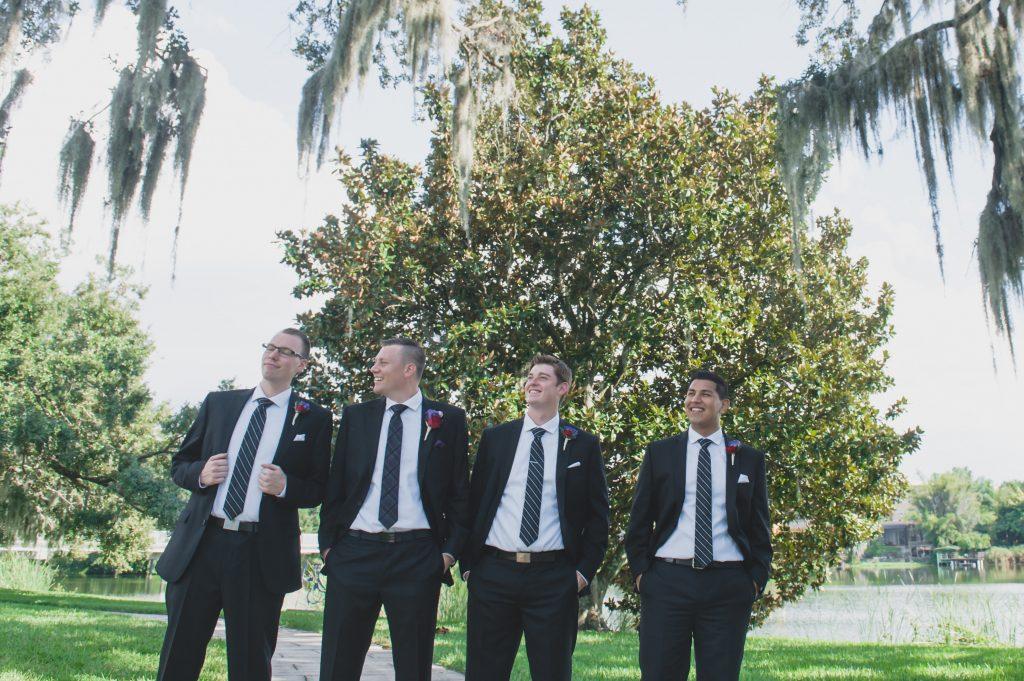 Groom & groomsmen before | Nerd Geek Chic Wedding Theme Game of Thrones Harry Potter Super Mario Orlando Science Center Anna Christine Events Orlando Wedding Planner Ashley Jane Photography