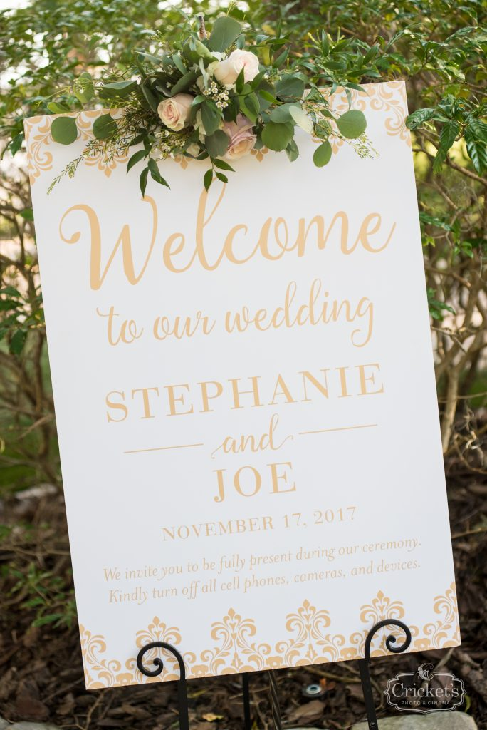 Welcome Sign Outdoor Wedding   Classic Pink & White Beach Wedding Paradise Cove Lakeside Orlando Anna Christine Events Cricket's Photography