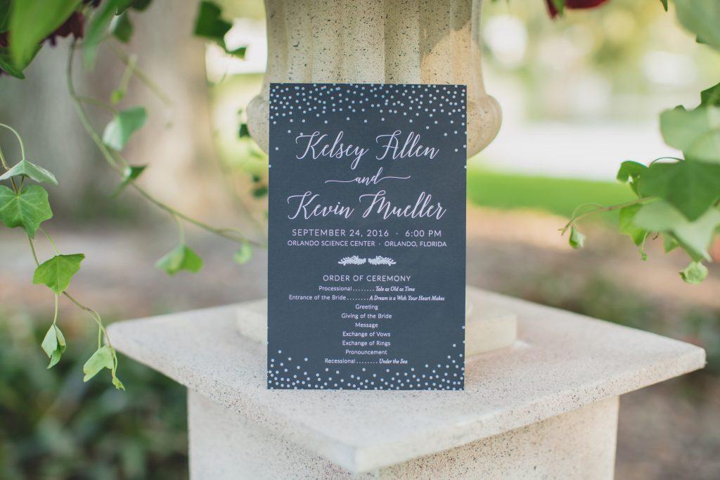 Wedding invitation | Nerd Geek Chic Wedding Theme Game of Thrones Harry Potter Super Mario Orlando Science Center Anna Christine Events Orlando Wedding Planner Ashley Jane Photography