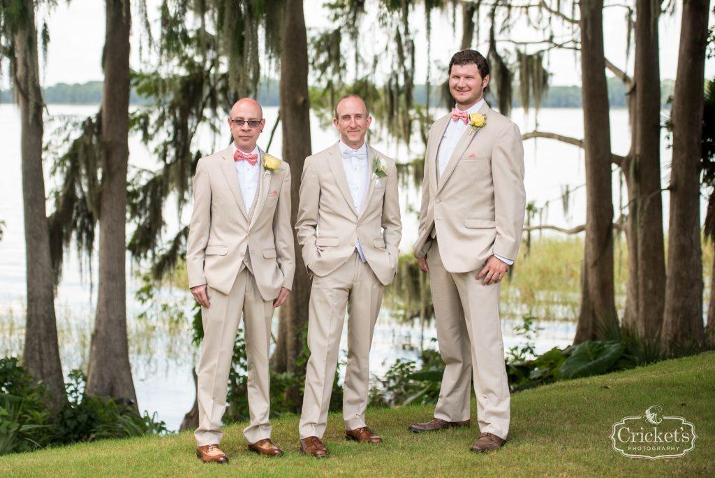 Groom & Groomsmen Photo Shoot First Look | Travel Themed Inspired Wedding Mission Inn Resort Orlando Florida Anna Christine Events Cricket's Photo & Cinema