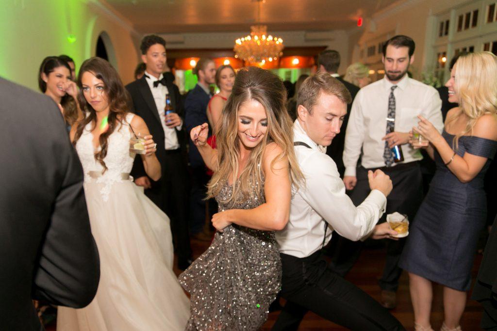 Open Dancing Bridesmaid Groomsman | Travel Inspired Themed Glamorous Gold & White Wedding Luxmore Grande Estate Anna Christine Events Justin DeMutiis Photography