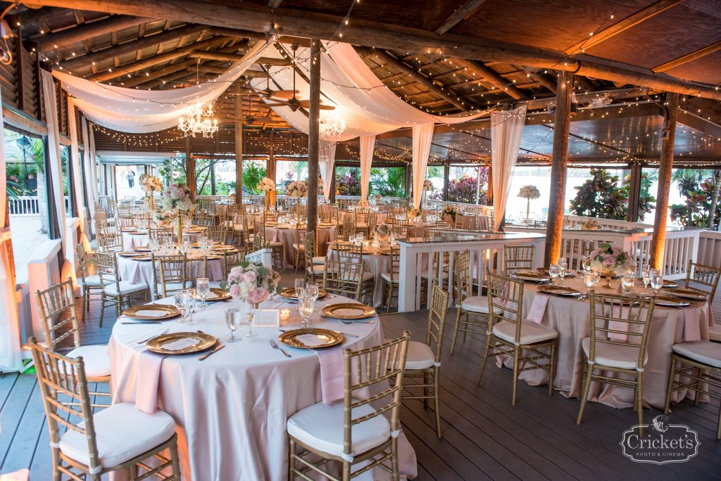 Dining Room Reception Dinner   Classic Pink & White Beach Wedding Paradise Cove Lakeside Orlando Anna Christine Events Cricket's Photography