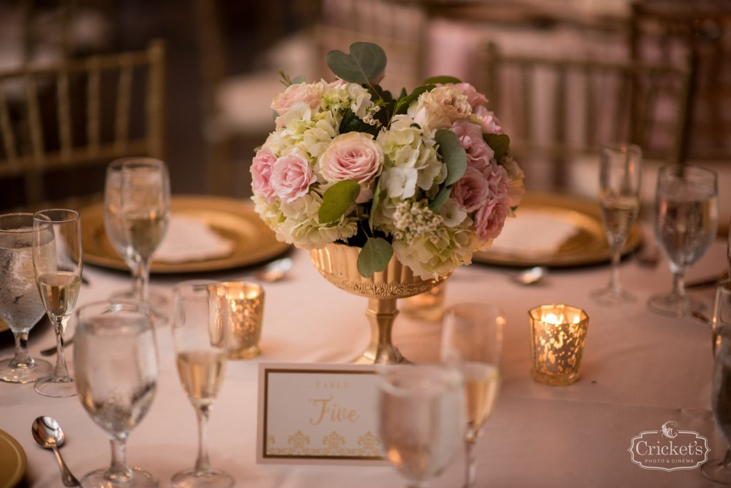 Reception Centerpieces Floral Flowers by lesley   Classic Pink & White Beach Wedding Paradise Cove Lakeside Orlando Anna Christine Events Cricket's Photography