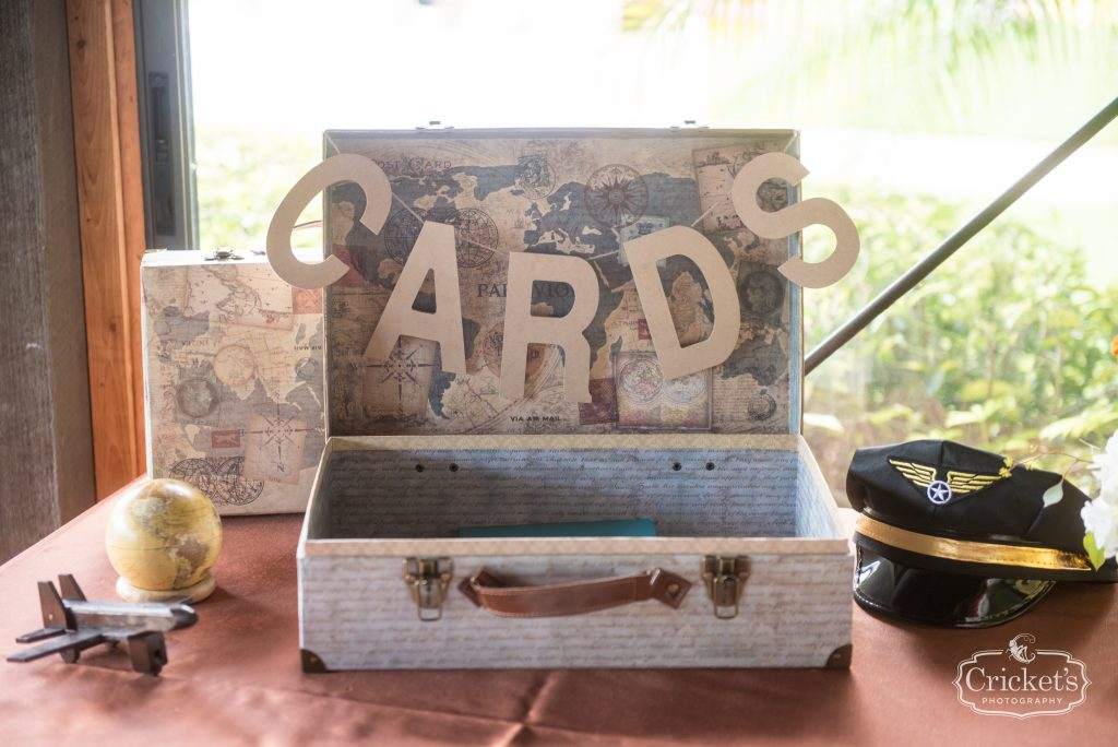 Card & Gift Table Reception | Travel Themed Inspired Wedding Mission Inn Resort Orlando Florida Anna Christine Events Cricket's Photo & Cinema
