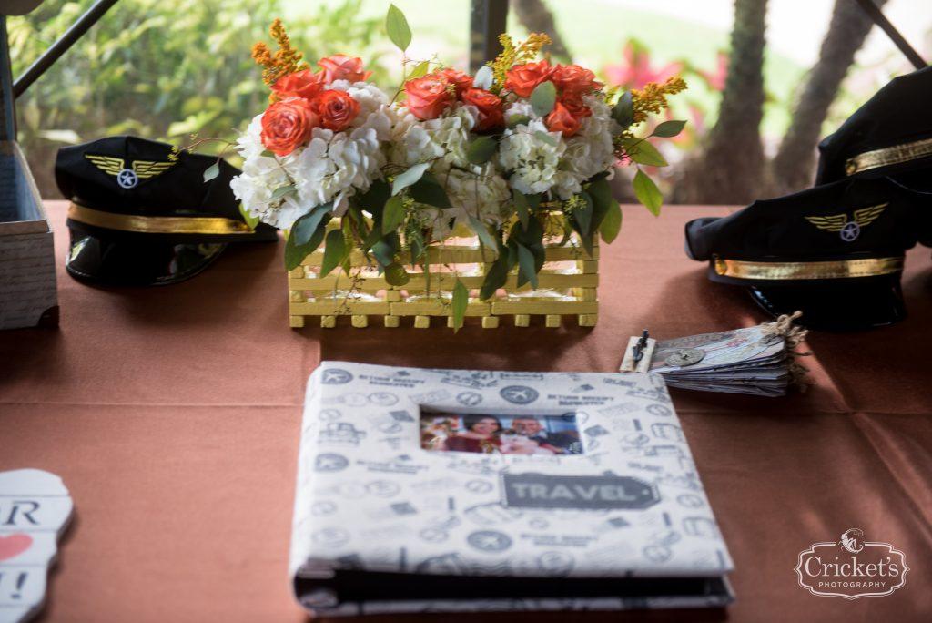Guest Book Reception | Travel Themed Inspired Wedding Mission Inn Resort Orlando Florida Anna Christine Events Cricket's Photo & Cinema