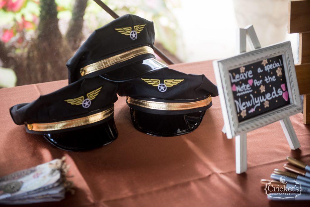 Captain's Hats | Travel Themed Inspired Wedding Mission Inn Resort Orlando Florida Anna Christine Events Cricket's Photo & Cinema