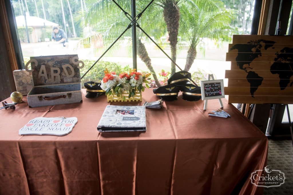 Guestbook Card & Gift Table | Travel Themed Inspired Wedding Mission Inn Resort Orlando Florida Anna Christine Events Cricket's Photo & Cinema