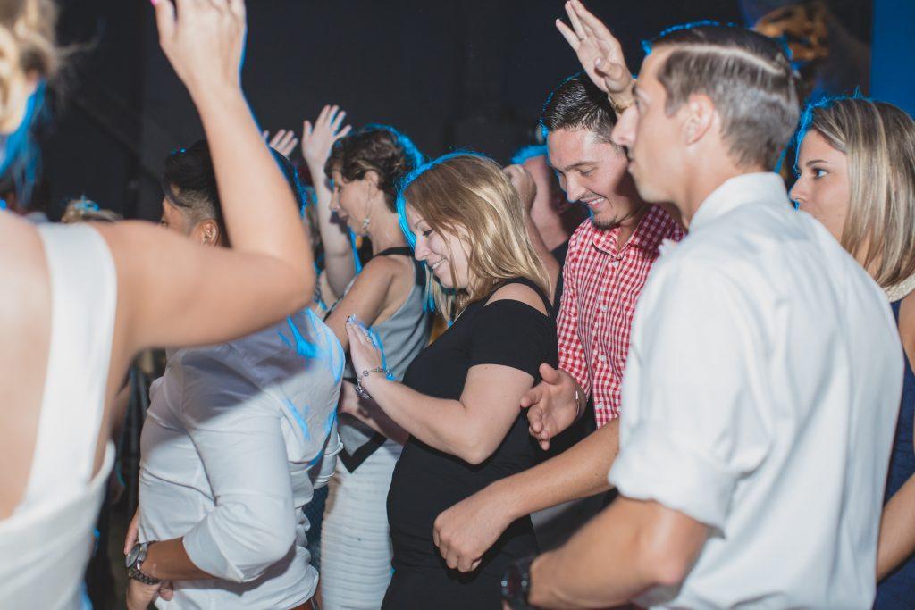 Dancing at reception | Nerd Geek Chic Wedding Theme Game of Thrones Harry Potter Super Mario Orlando Science Center Anna Christine Events Orlando Wedding Planner Ashley Jane Photography