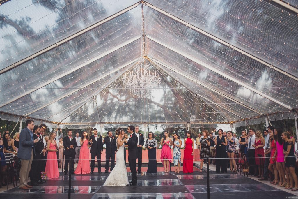 Bride & groom first dance sparklers | Bright Backyard Wedding Colorful Lora Rodgers Photography Anna Christine Events