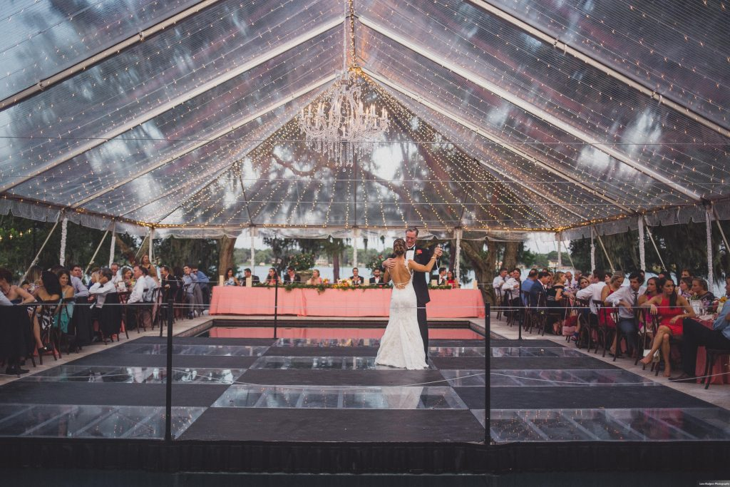 Father-daughter bride dance | Bright Backyard Wedding Colorful Lora Rodgers Photography Anna Christine Events
