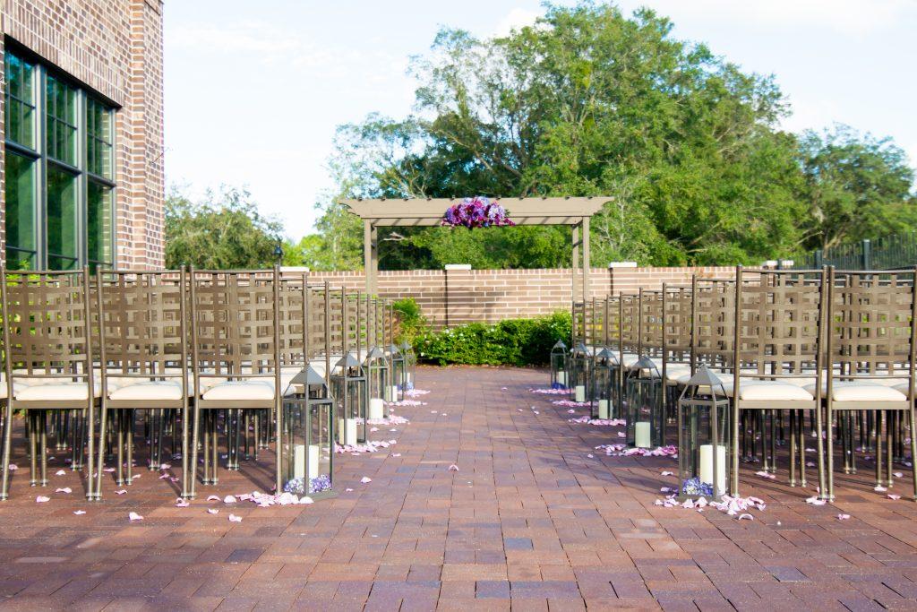 Outdoor ceremony venue | Classic Purple & White Wedding Photography Noah's Event Venue Orlando Florida Anna Christine Events Wedding Planner Jessica Leigh