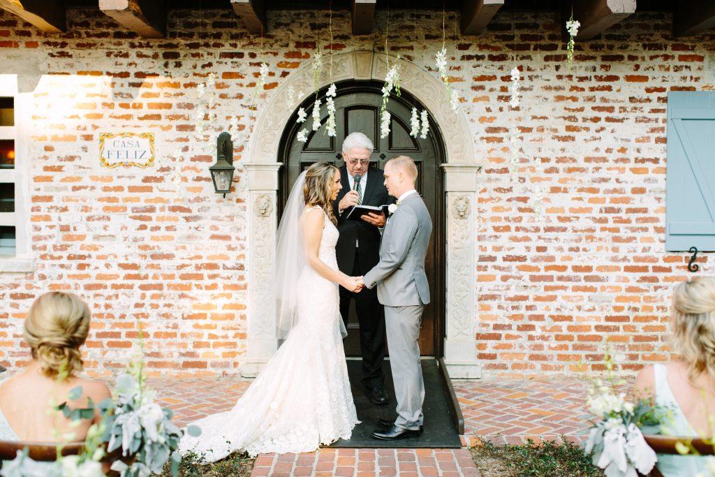Rustic Chic Blue & Gold Wedding Casa Feliz Orlando Florida Wedding Planner Anna Christine Events Tara Libby Photography