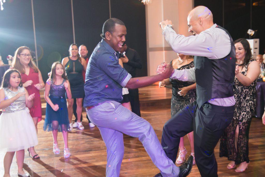 Dancing at reception | Classic Purple & White Wedding Photography Noah's Event Venue Orlando Florida Anna Christine Events Wedding Planner Jessica Leigh