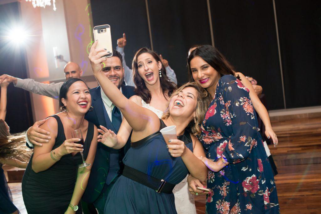 Bride selfie | Classic Purple & White Wedding Photography Noah's Event Venue Orlando Florida Anna Christine Events Wedding Planner Jessica Leigh