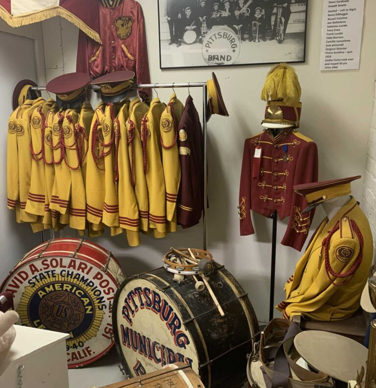 Band room exhibit at the Pittsburg Historical Museum